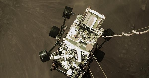 Mars'a iniş anına ait görüntüler paylaşıldı