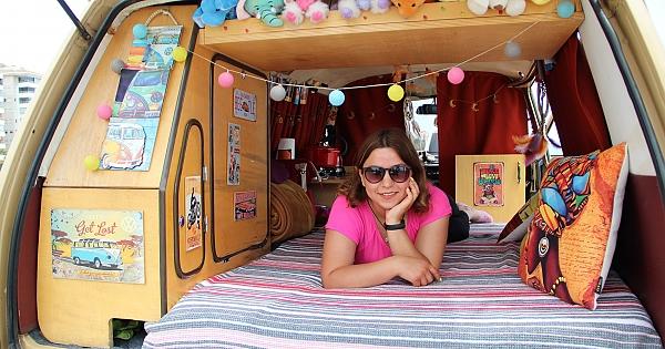 Genç hemşirenin karavan hayali!