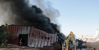 Malatya'da fabrika yangını