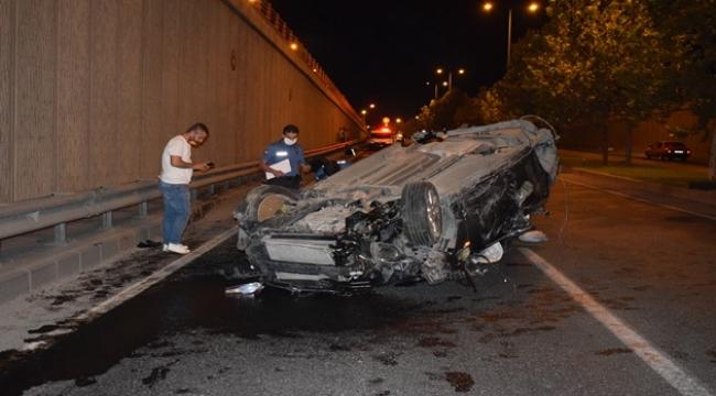 Alt geçitte feci kaza: 2 ağır yaralı