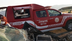 Hekimhan'da korkunç kaza : 1 ölü