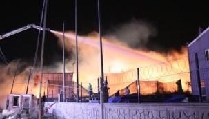 Palet fabrikasındaki yangın kontrol altına alındı