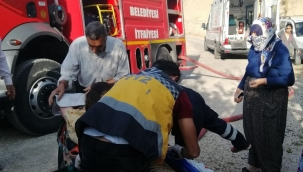 Yangında zehirlenen kadın öldü