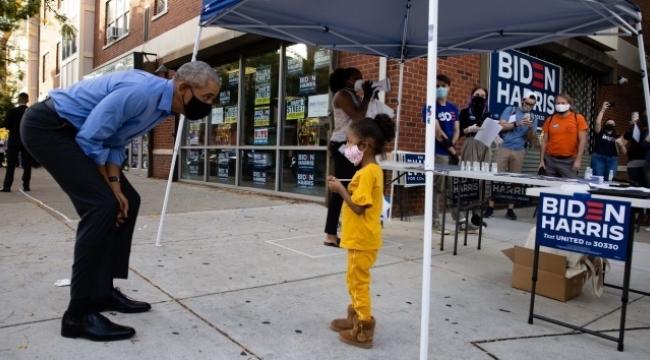 Joe Biden için sahaya inerek oy istedi
