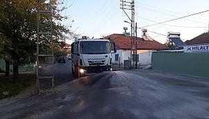 Cadde ve sokaklar yıkanıyor!