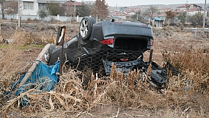 Otomobil takla attı 1 ağır yaralı!