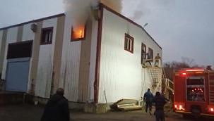 Soğuk hava deposunda yangın