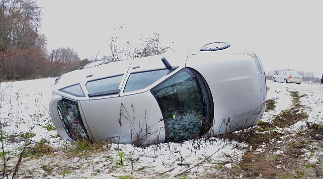 Akçadağ'daki kazada 2 kişi yaralandı