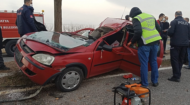 Akçadağ'da feci kaza: 1'i ağır 2 yaralı