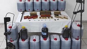 Arapgir'de 481 litre kaçak içki ele geçirildi