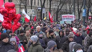 Avusturya'da korona protestosu