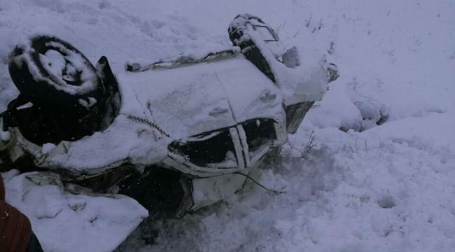 İki kişiyi köylüler donmaktan kurtardı