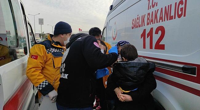 Kafa kafaya çarpıştılar: 1'i çocuk 2 yaralı