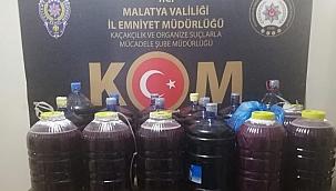 Malatya'da el yapımı şarap ele geçirildi