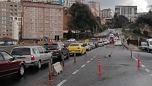Zonguldak'ta trafiği felç eden kaza