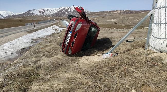 112 personelleri kaza yaptı: 2 yaralı!