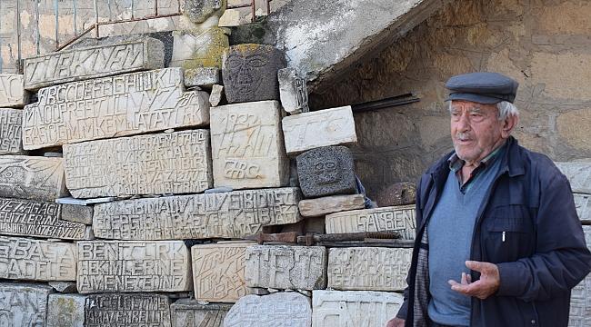 Yazıhan'da taşlara adanan bir ömür!