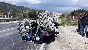 Altınözü'nde traktör devrildi: 2 yaralı