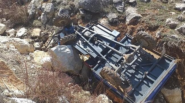 Çapa makinesi devrildi: 1 ağır yaralı!