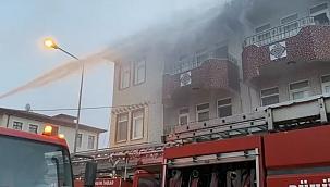 Çatı yangını söndürüldü!