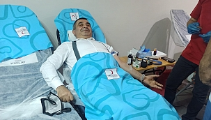 AK Partililerden kan bağışı!
