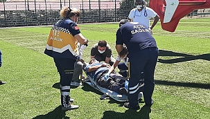 İmdadına ambulans helikopter yetişti