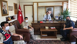 Jandarma'dan Kaymakam Gülenç'e ziyaret