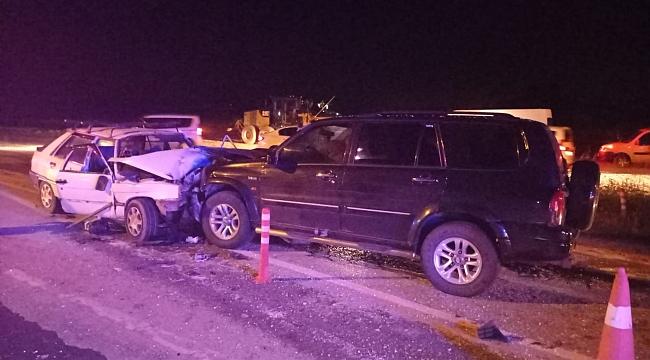 Tekirdağ'da trafik kazası: 1 ölü 3 yaralı