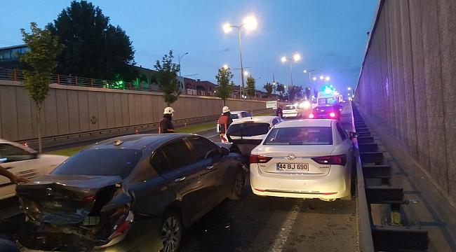 Üç araçlı zincirleme kazada: 2 yaralı!