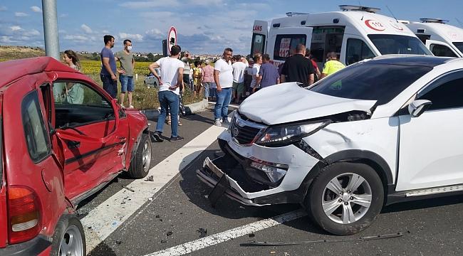 Tekirdağ'da trafik kazası: 1'i ağır 5 yaralı