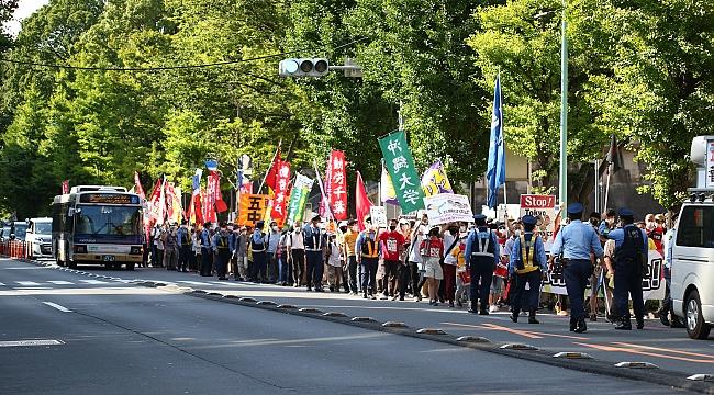 Tokyo'da olimpiyat protestoları!