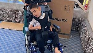 Yusuf'un tekerlekli sandalye sevinci