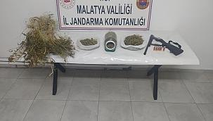 Battalgazi'de 2 kilo esrar ele geçirildi