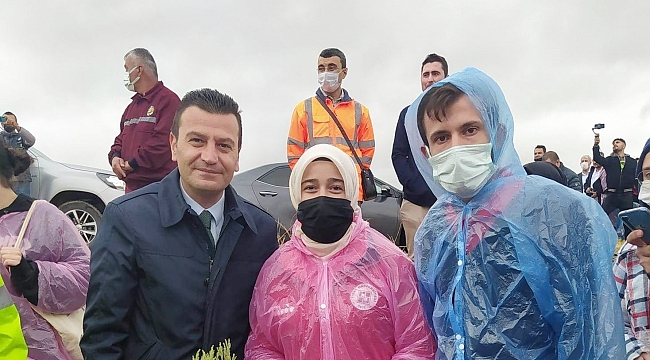 Malatya'dan Kırşehir'e Ahi fidanı
