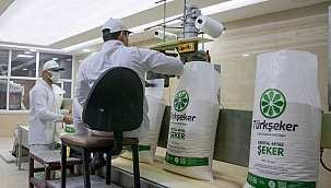 Yeni sezon ilk şeker üretimi yapıldı!
