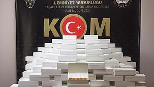 50 bin adet makaron ele geçirildi