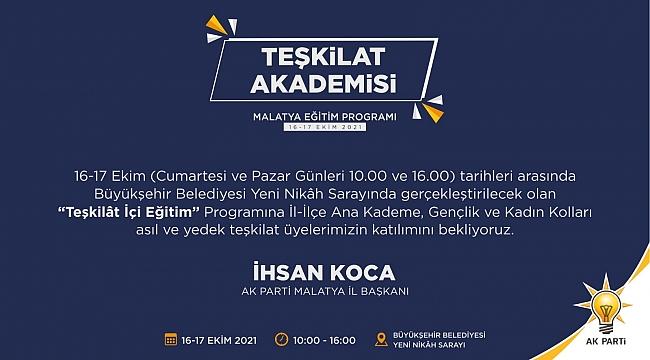 AK Parti Malatya'da 'Teşkilât İçi Eğitim'