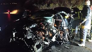 Aydın'da iki araç çarpıştı: 1 ölü!
