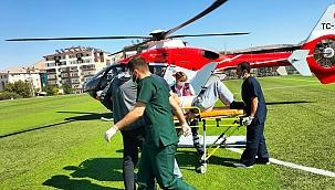 Kalp krizi geçiren hasta için havalandı
