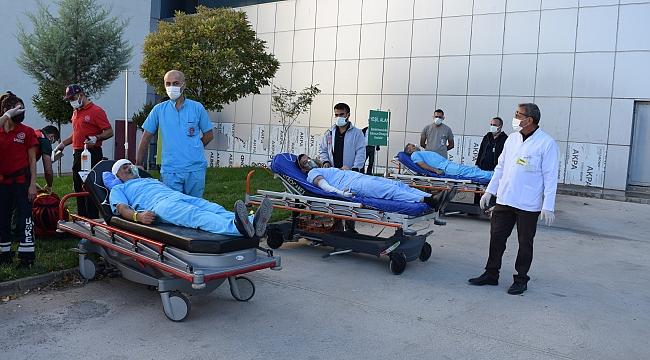 Hastanede yangın 'tatbikatı' yapıldı