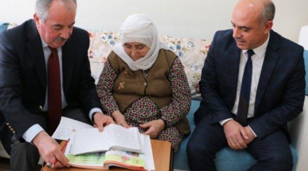 86 yaşındaki Fatma Ninenin örnek azmi