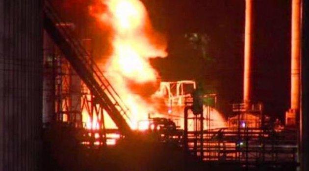 ABD'de petrol rafinerisinde yangın