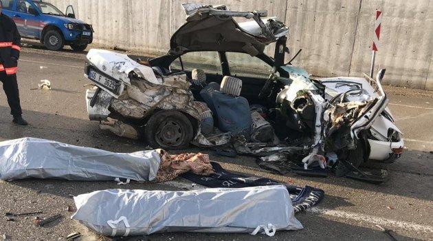 Akçadağ'da feci kaza: 2 ölü 3 yaralı