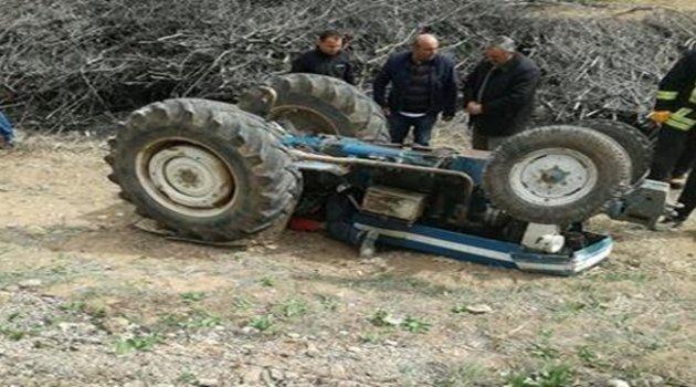 Akçadağ'da Traktör devrildi: 1 ölü