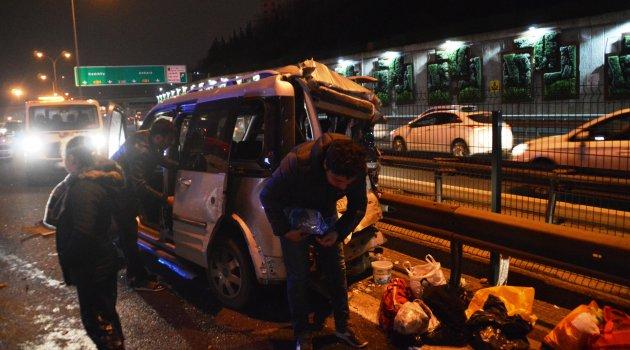 Altı aracın karıştığı zincirleme kaza: 10 yaralı