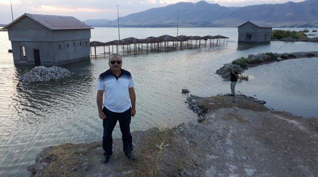 Baraj gölü milyonluk tesisi yuttu