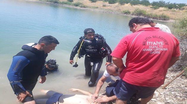 Baraj gölüne giren genç boğuldu