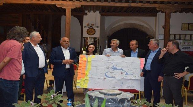 Başkanlar Arapgir'de Fırat'ı konuştu