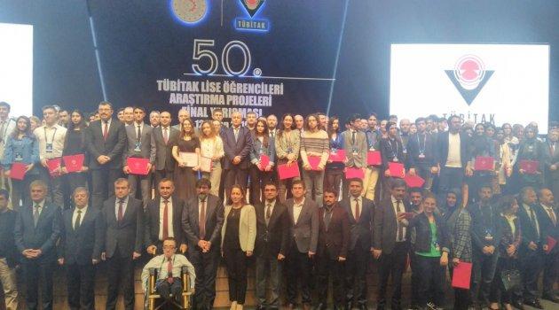 Beş proje Türkiye derecesi yaptı