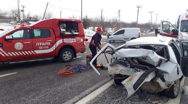Doğanşehir'de kaza: 2 yaralı